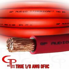 10 ft TRUE AWG 1/0 Gauge OFC COPPER RED Power Wire Ground Cable GP Car Audio