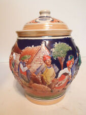 Antique German Pottery Tobacco Jar Group Party