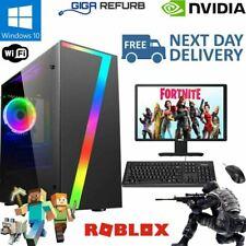 Fast Intel Pentium G Gaming PC Bundle 4GB RAM 256GB SSD GT 710 2GB WiFi Win 10