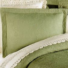 SAGE GREEN STANDARD SHAM : 100% COTTON MATELASSE PILLOW COVER