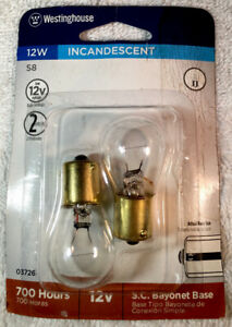 Westinghouse Specialty Bulb 12W Voltage: 12 Base Single Contact Bayonet