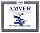 """Vintage Antique Wooden Plaque & Sign """"AMVER Faithful Participation"""" Antique"""