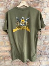 Vintage 80s Marine Corp US Army Hired Gun T Shirt USA medium Combat Veteran Worn
