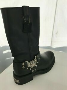 Harley Davidson Leather boots hardly ever worn excellent condition wide width