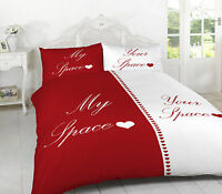 luxury Printed Duvet cover set My Space & Your Space  Double,KIng,Superking size