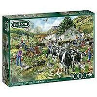 Jumbo Falcon De Luxe Another Day On The Farm January Jigsaw Puzzle 1000 Pieces
