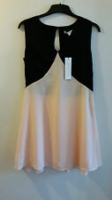 Glamourous Size 12 Black + Pink Cocktail dress - BNWT