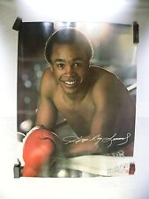 Vintage Original 7-Up Uncola Advertising Promo Sugar Ray Leonard Poster (A5)