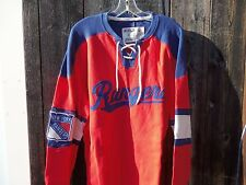 New / NWT New York Rangers CCM Reebok NHL Lace shirt non hoodie sz L