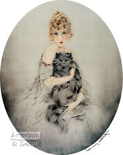 Persian Cat by Louis Icart (: Art Print of Vintage Art :)