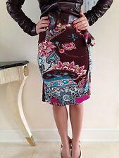 Blumarine NWT Brown Summer Stretch Skirt In Size Italian 38 USA 2-4
