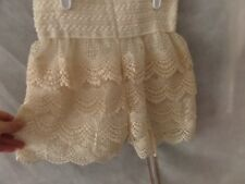New w/o tags Lace Shorts Size LG Cream color Juniors Lined Solid Stretch