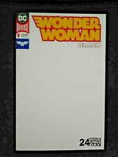 WONDER WOMAN BLANK #1, BLANK COVER SKETCH VARIANT BLANK PAGES