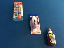 Glue:  Elmer's washable purple glue, or dual tip glue pen, or Avery glue stick