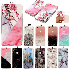 For Huawei P9 P8 P10 Lite Granite Marble Pattern Soft Rubber Phone Cover Case