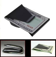 COOL Slim Stainless Steel Double Sided Money Clip Wallet Credit Card ID Holder
