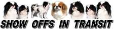 JAPANESE CHIN Dog Car Show Off Sticker By Starprint