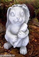 "Latex bunny rabbit mold w plastic backup plaster concrete casting 6.5""H x 3.75""W"