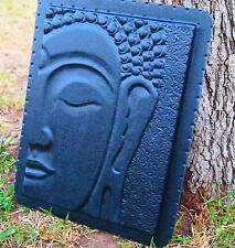 Buddha Wall Plaque Garden Sculpture Plastic Mold For Plaster, Concrete Or Cement