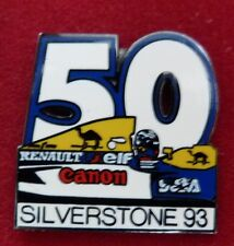 RARE PIN'S F1 FORMULA ONE WILLIAMS CANON ALAIN  PROST GP CIRCUIT SILVERSTONE 93