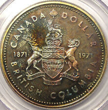 1971 British Columbia Dollar PCGS SP65 - RAINBOW!