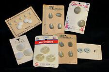 Vintage Buttons Storestock Plastic Metal Shank Costumakers LaMode Lansing White