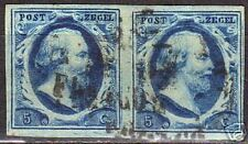 Netherlands NVPH 1  in pair plate III pos 39-40 CANC VF