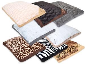 PET NIGHTS - PET CUSHION. Animal Printing Faux Fur Cheap Nice Dog Bed, Cat Bed.