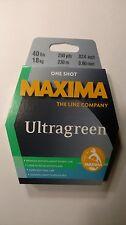 maxima ultragreen 40# One Shot Spool, 250yds. New Unopened