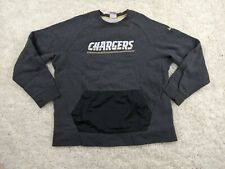 NIKE San Diego LA Chargers Sweater Mens 2XL XXL Gray White Yellow Team Apparel