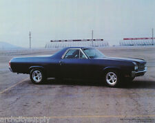 SMALL POSTER:CARS :1969 CHEVY EL CAMINO - DARK BLUE -FREE SHIP ! #29-630  LP52 S