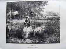 1m52 Gravure eau forte selon Millet causerie, l'art 1878