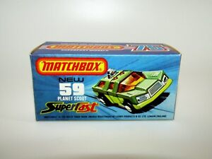 """Matchbox Superfast No 59 Planet Scout """"J"""" Box with New Mint UNUSED"""