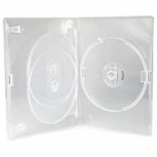 100 X CD DVD 14mm Clear DVD 3 Way Case for 3 Disc - Pack of 100