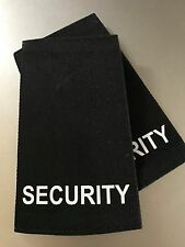 SECURITY epaulettes - black pair