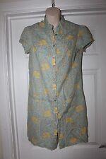 Ladies Cotton Floral Atmosphere Shirt Dress Size 10
