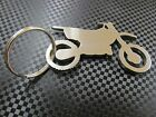 Stainless steel dirt bike chain Keychain / Key Ring, laser cut, Made in USA!