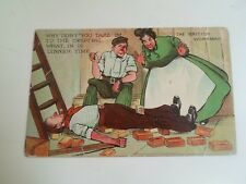 THE BRITISH WORKMAN Franked+Stamped c.1915 Vintage Comic Postcard   §B501