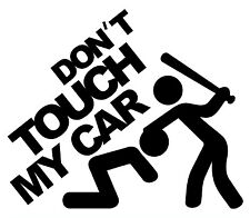 1tlg. Aufkleber Don't Touch My Car Lady Edition Autoaufkleber Sticker Fun