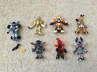 "Mixed Lot 7 Medabots 2.5"" Mini Figures Hasbro Takara Rokusho Warbandit Metabee"