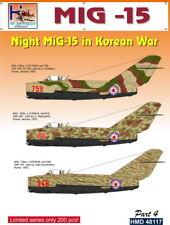 h-model decalcomanie 1/48 MiG-15 NOTTE MiG-15 in coreano GUERRA PARTE 4 #48117