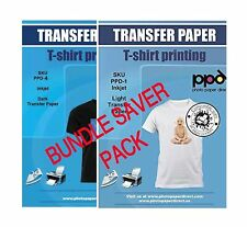 Ppd Inkjet Iron On Bundle Of T Shirt Transfer Paper High Premium Quality