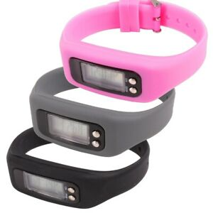 CHOOSE Colour ACTIVITY TRACKER Black/Grey/Pink Battery Operated Pedometer Watch