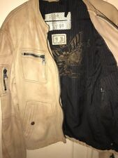 """DIESEL mens leather jacket  LIMITED edition """"rising sun"""" MADE IN ITALY Large"""