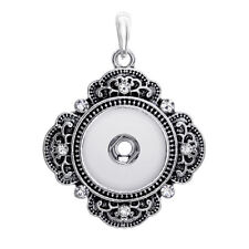 Pendant Necklace For Women Beatiful Crystal 18mm Snaps Buttons