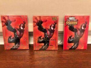 2016 Marvel Masterpieces Spider-Man Lot - Base, Gold Signature & Purple #1