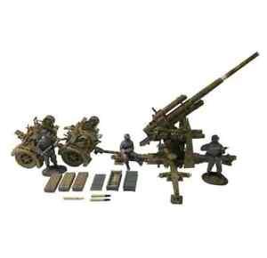 William Britain German 88mm Flak 36, Dual Purpose Gun with 3 Man Crew, 25059