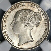 1865 NGC MS 63 Victoria Shilling Great Britain Mint State Silver Coin (19021903C