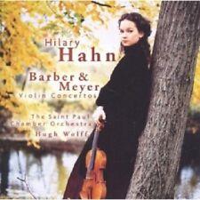HILARY HAHN - SAMUEL BARBER, EDGAR MEYER: VIOLIN CONCERTOS  CD 5 TRACKS NEU
