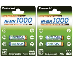4x Panasonic Akkus AAA Micro 1000mAh für ua. Gigaset A400 A400A A415 Telefonakku